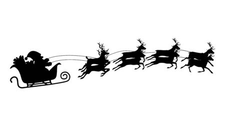 Santa sleigh and reindeer Vector