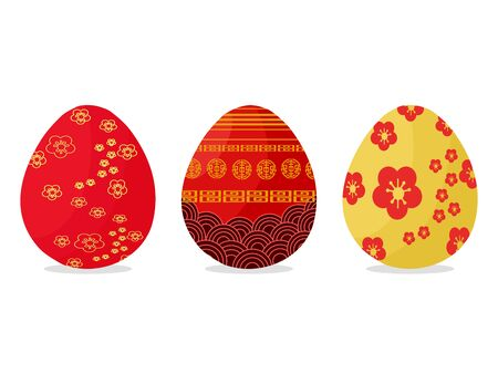 Chinese style easter eggs vector