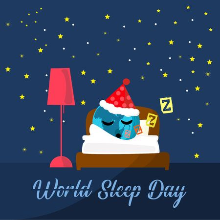 The world is sleeping Stars and speech bubbles vector