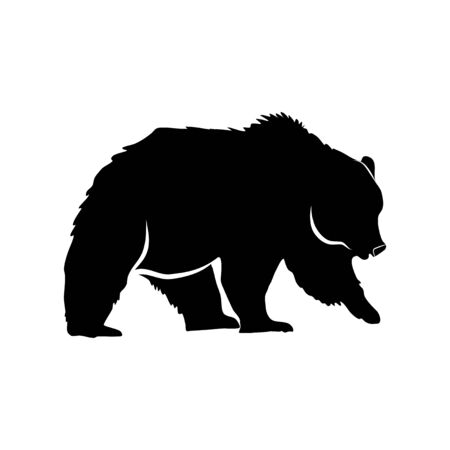 Bearish silhouette  on a transparent background vector