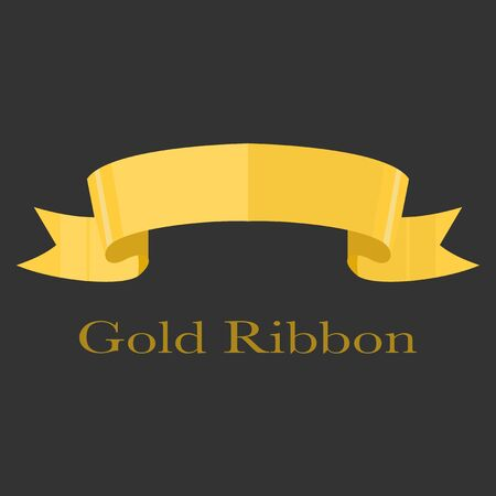 Realistic gold ribbon banner vector for your design project eps