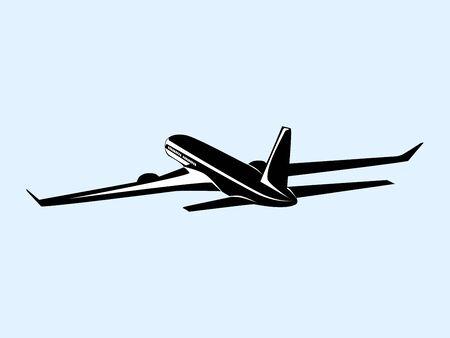 Icône d'avion. Modèle de logo d'avion. Conception d'icône. illustration vectorielle Logo