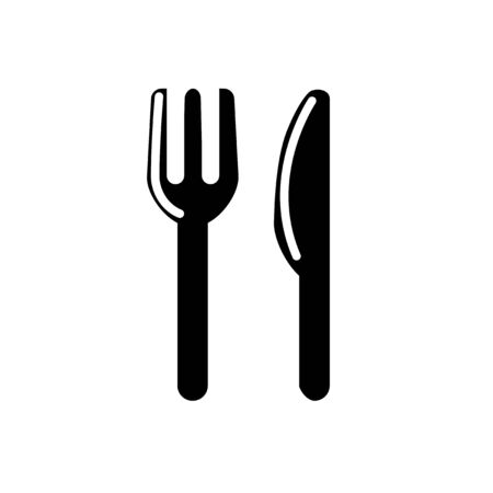 fork and spoon icon.food icon flat symbol.silhouette vector style eps