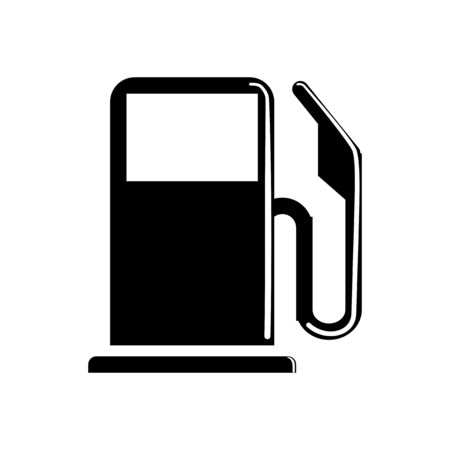 Fuel icon or oil pump logo symbol isolated separately.silhouette vector style Logó