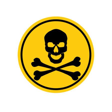 skull symbol. Deadly danger sign.warning sign.danger zone.vector illustration eps
