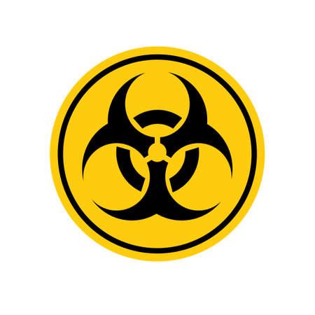 vector Biohazard Waring Quarantine Poster and Grunge Texture eps