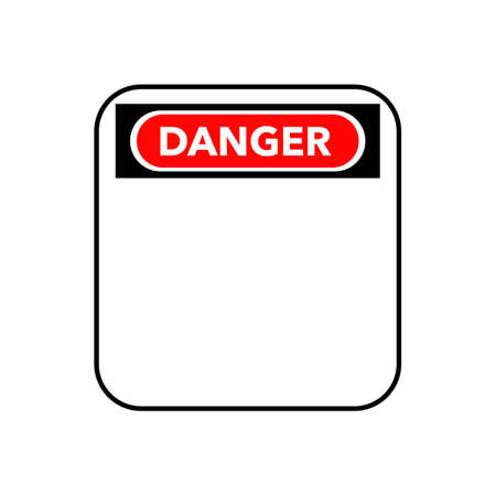 Blank danger sign with empty space for text message.vector illustration eps Çizim