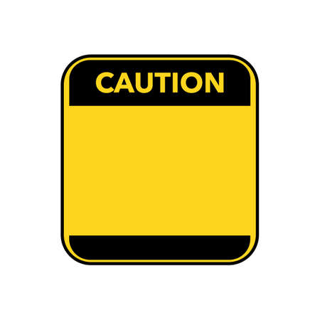 Caution sign.Blank danger sign in yellow with empty space for text message.vector illustration eps
