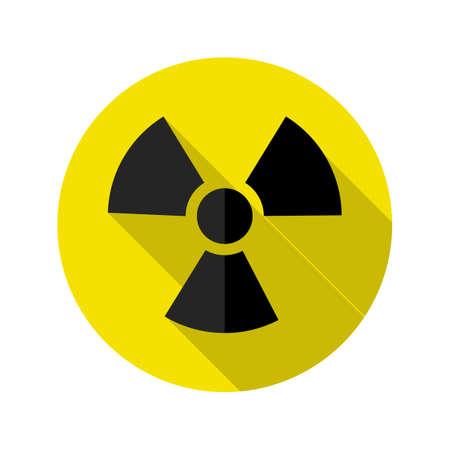 Danger icon .Ionizing radiation Hazard. Warning vector sign. vector illustration eps