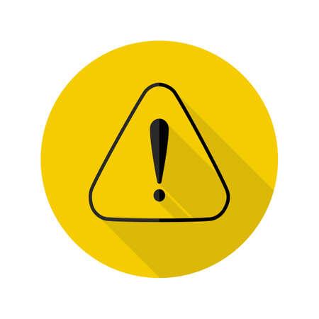 Danger icon. Exclamation mark logo.vector illustration eps Vectores