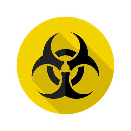 Danger icon.biohazard caution and danger zone.Warning vector sign.vector illustration  eps