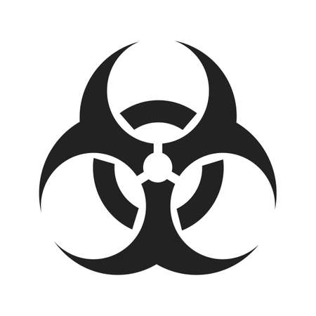 Danger icon.biohazard caution and danger zone.Warning vector sign.vector illustration on a transparent background eps