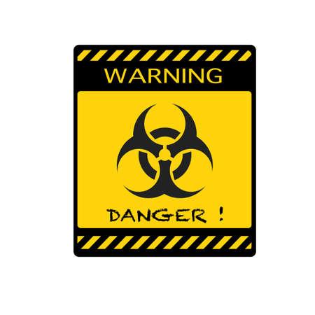 Danger icon.biohazard caution.Warning vector sign.vector illustration eps