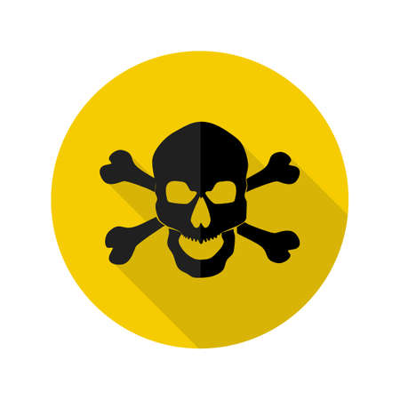 Danger icon.Cross skull logo.Hazard warning symbol.vector illustration eps Vectores