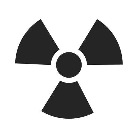 Danger icon.Ionizing radiation Hazard.Warning vector sign. vector illustration on a transparent background eps