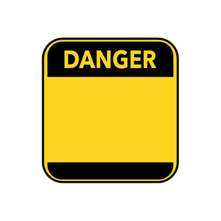 Danger sign.Blank danger sign in yellow with empty space for text message.vector illustration eps
