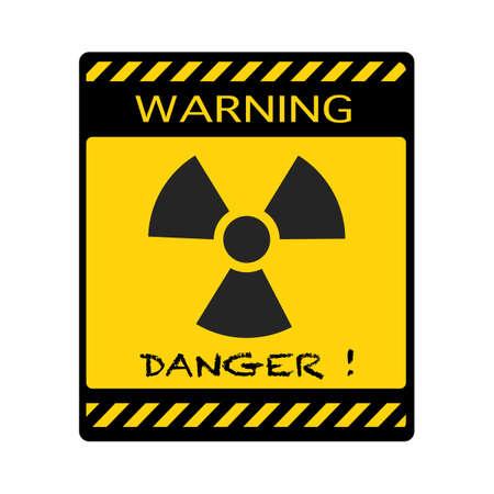 Danger symbol.Ionizing radiation Hazard.Warning vector sign. vector illustration eps