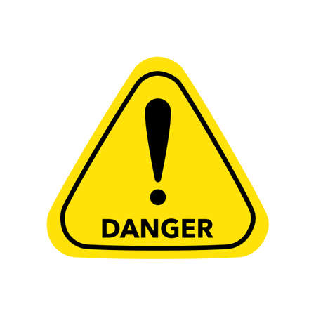 danger vector sign.Hazard warning symbol vector icon flat sign symbol with exclamation eps
