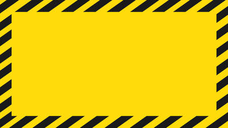 Dangerous background. Black and yellow warning background. There is empty space for text. Vector illustration eps