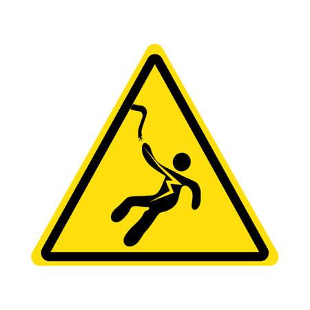 Electrical Shock Electrocution Symbol Sign.Isolate On White Background. Vector Illustration eps