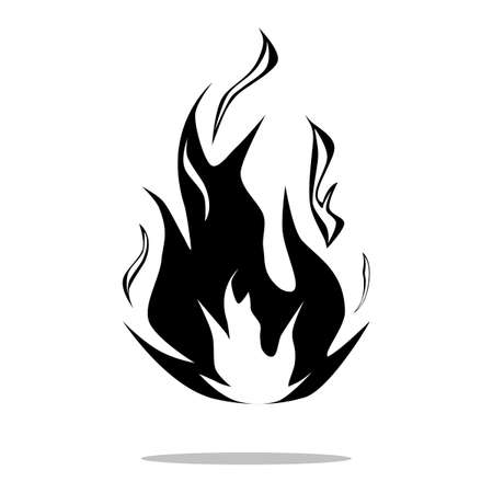 Fire flame logo design template.Fire flame icon.vector illustration eps