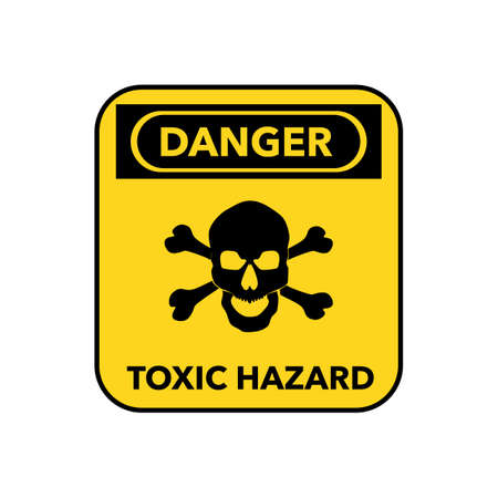 Hazardous symbol icon.The symbol has a poisonous skull and a dangerous message.vector illustration eps Vectores