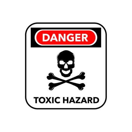 Hazardous symbol icons. The symbol has a poisonous skull and a dangerous message eps Vectores