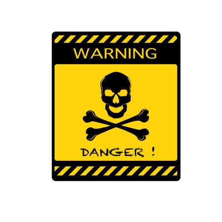 vector Danger sign with skull symbol.Deadly danger sign. warning sign.danger zone eps