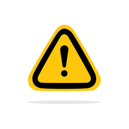 Attention Sign. yellow Warning Dangerous attention i icon.vector illustration eps