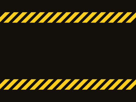 Black and yellow line striped background.Caution tape.Blank warning background.Vector illustration eps