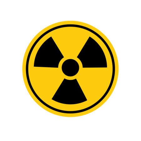 radiation ionization.biohazard caution and danger zone.vector illustration eps