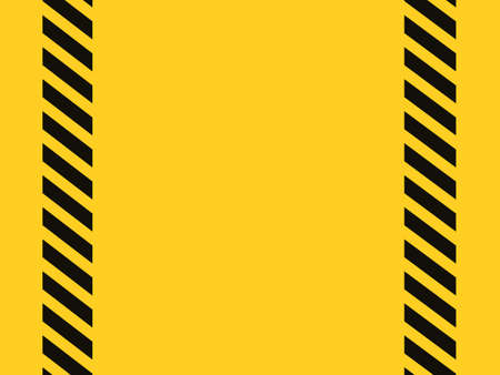 Vertical black and yellow stripes Caution tape Background warning blank illustration eps