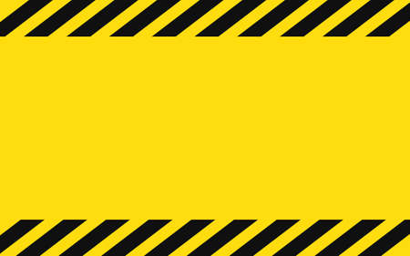 Yellow and black police background to alert the danger area. Caution tape Background warning blank eps
