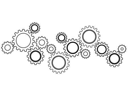 Gear wheel or cog icon on a white background. Mechanism concept.vector illustration Vectores