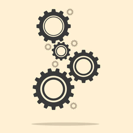 gear wheels.Abstract techno gear wheels.cogs modern machine.Vector illustration eps