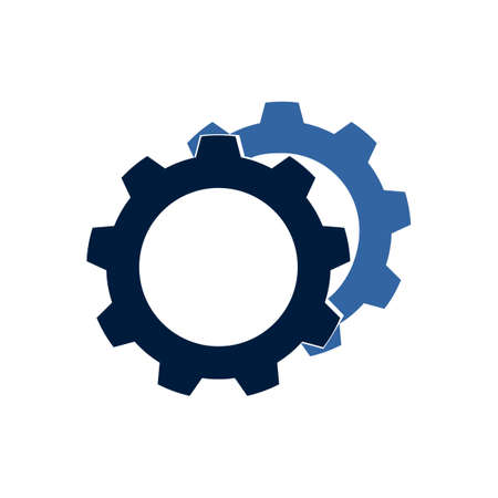 Gears icon Vector.style is a flat symbol on transparent background. Designed for software and web interface eps