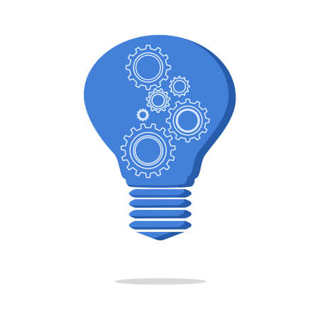Light bulb and cog inside.gear icon modern.quality graphic design element.vector illustration eps  イラスト・ベクター素材