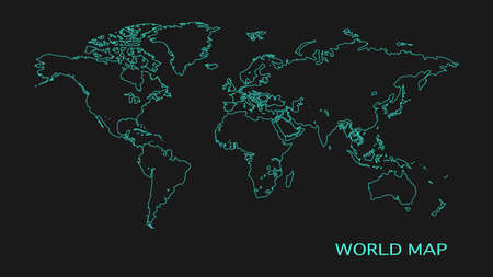 Vector world map and flat design style modern. vector illustration Vectores