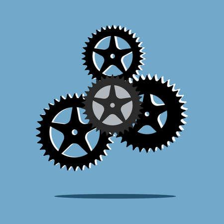Abstract techno gear wheels.cogs modern mechanism.Vector illustration eps