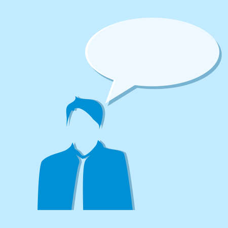 Business people and speech bubble.vector illustration eps