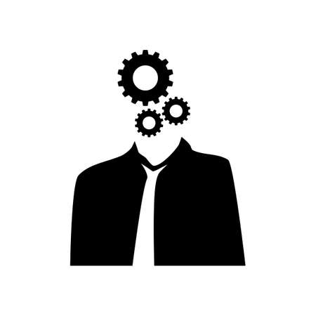 Business people have mechanisms within the brain.vector illustration eps Vectores