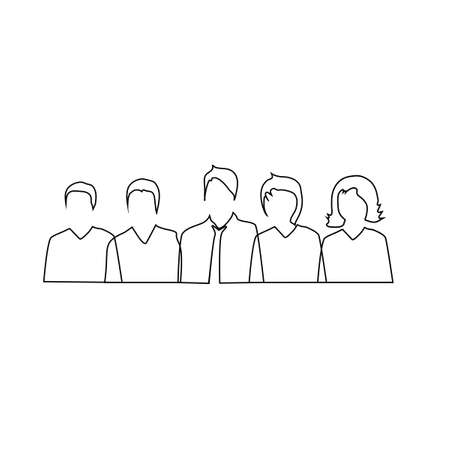 business people.Office people.People group isolated on a white background.Vector illustration eps Vectores