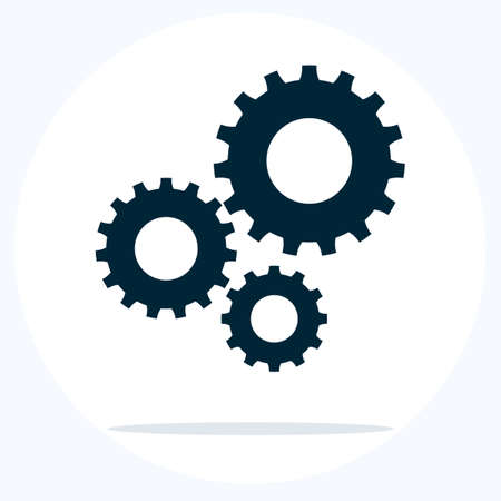 Cog sign.Settings icon.Gear icon with place for your text. Vector illustration eps