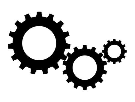 cog symbol.Gears Vector Icon. Continuous running gear Concept of organizational movement eps