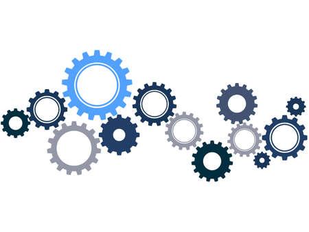 Cogwheel symbol. Mechanism.concept process or systemization.vector illustration eps