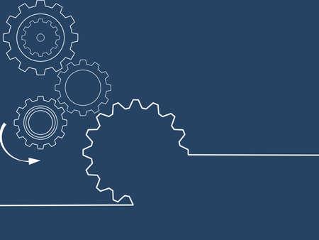 Cogwheels brain.gear mechanism settings tools template banner. Think ideas eps Vectores