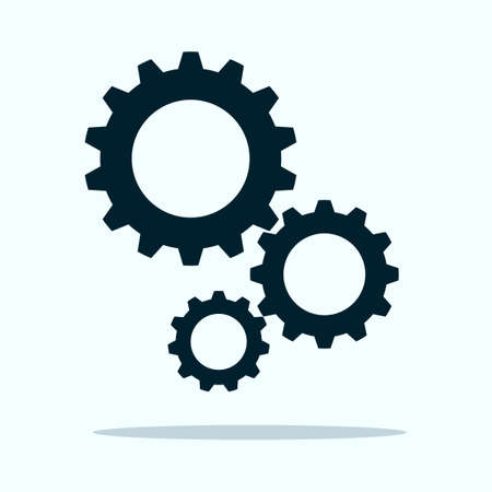 Gear icon vector.Cog sign.Settings icon with additional gears icon.vector illustration eps Vectores