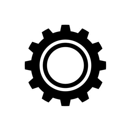 gear icon vector.flat design icon.Cog sign.on transparentcy background.Vector illustration eps