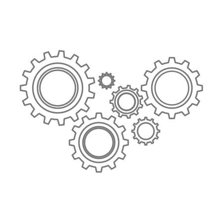 Gear icon.Cog symbol vector sign isolated on white background eps