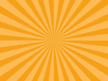 Sunburst rays orange background. sunbeam star burst. Vector illustration eps Vector Illustratie
